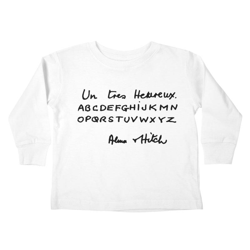 Hitchcock Noel Kids Toddler Longsleeve T-Shirt by Kate Gabrielle's Artist Shop