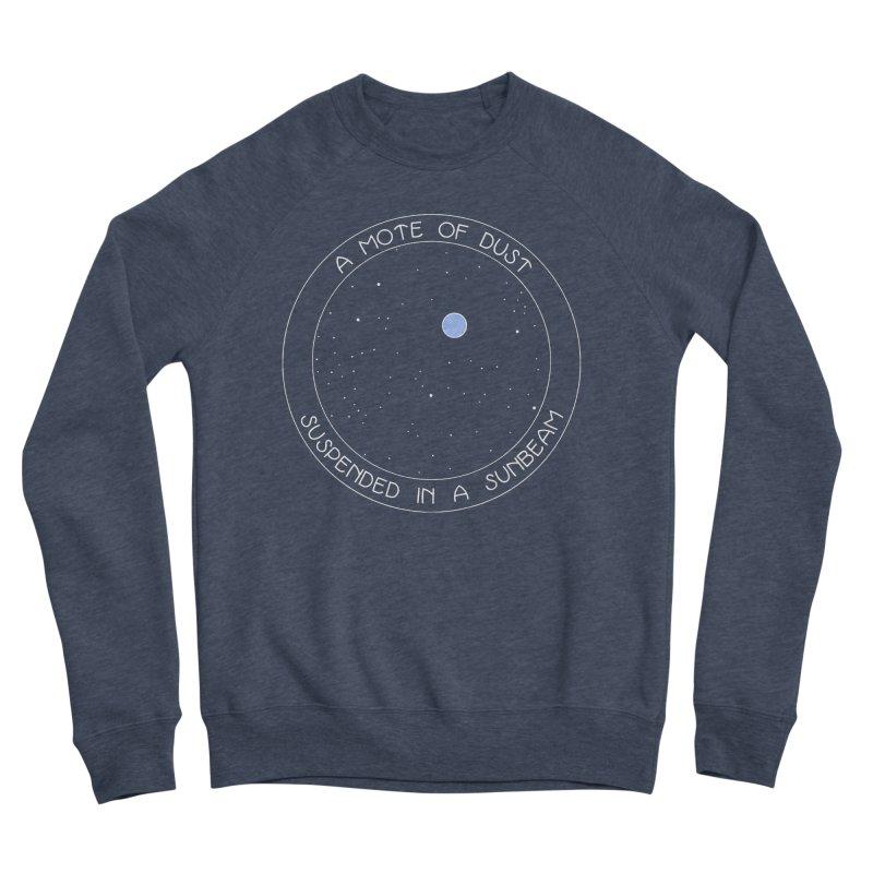 Pale Blue Dot Women's Sponge Fleece Sweatshirt by Kate Gabrielle's Artist Shop