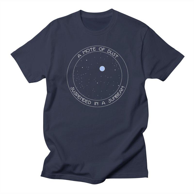 Pale Blue Dot Men's Regular T-Shirt by Kate Gabrielle's Artist Shop