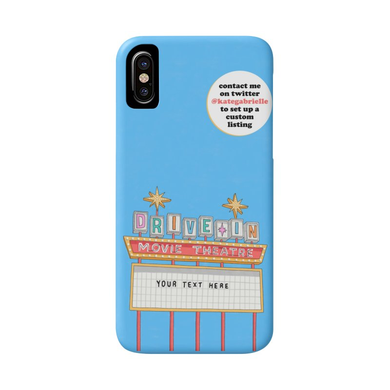 Custom Drive-in Movie Marquee Accessories Phone Case by Kate Gabrielle's Artist Shop