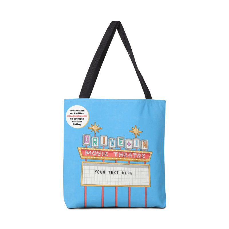 Custom Drive-in Movie Marquee Accessories Bag by Kate Gabrielle's Artist Shop
