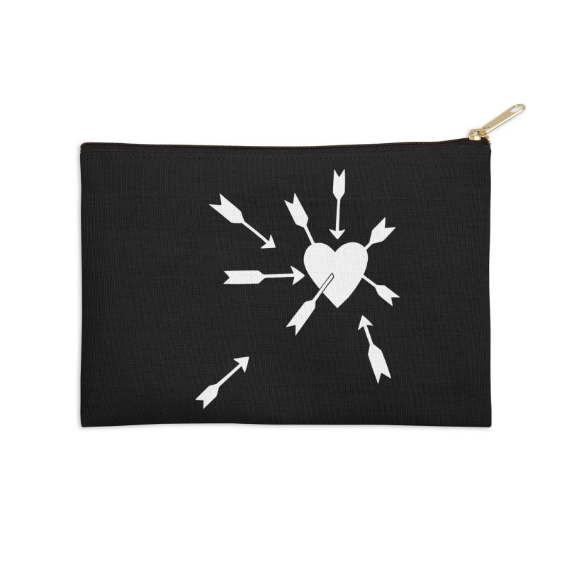 Carefree (black & white) Accessories Zip Pouch by Kate Gabrielle's Artist Shop