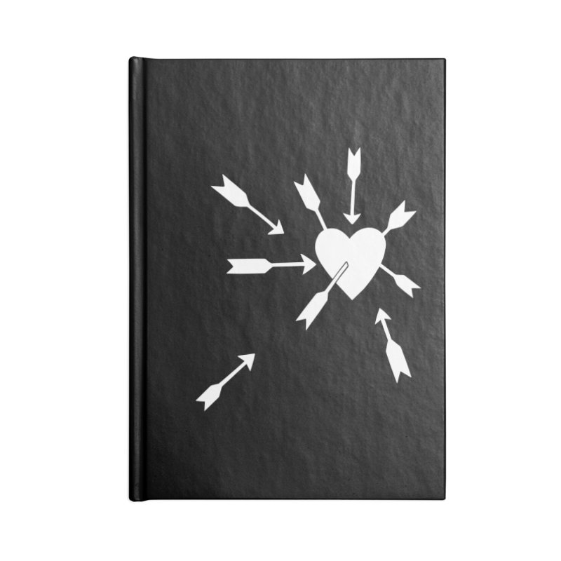 Carefree (black & white) Accessories Notebook by Kate Gabrielle's Artist Shop