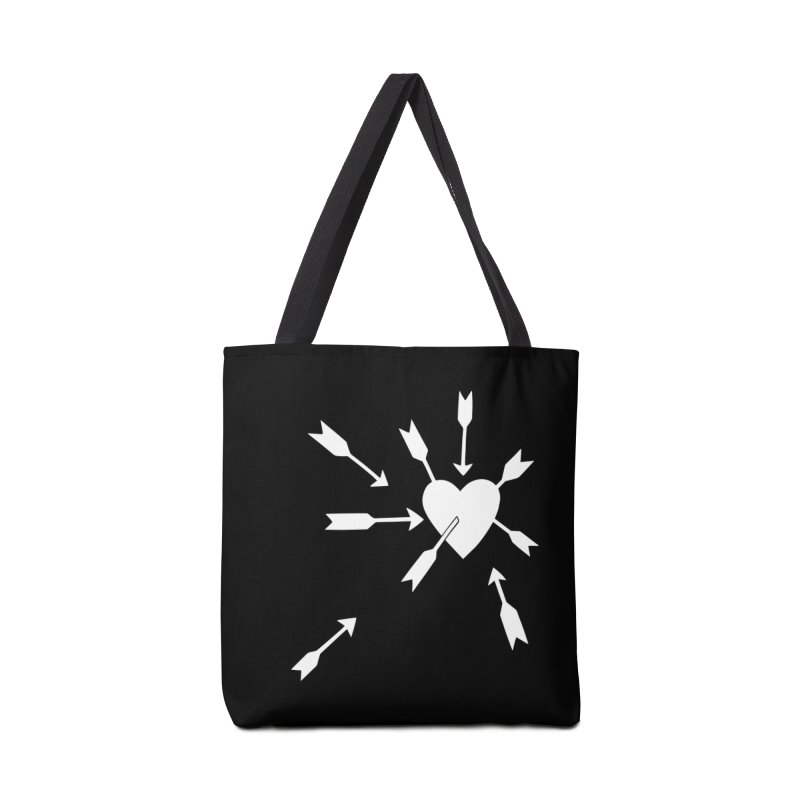 Carefree (black & white) Accessories Bag by Kate Gabrielle's Artist Shop