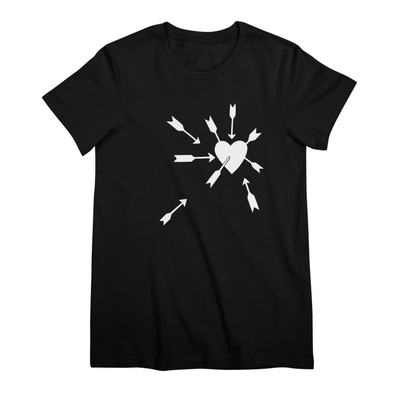 Carefree (black & white) Women's Premium T-Shirt by Kate Gabrielle's Artist Shop