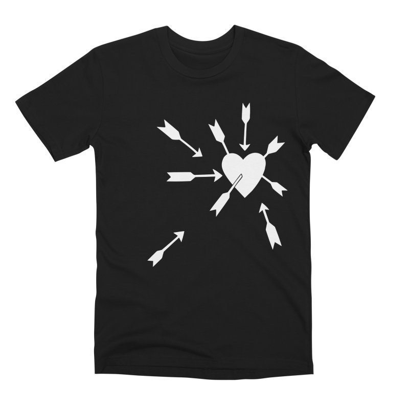 Carefree (black & white) Men's Premium T-Shirt by Kate Gabrielle's Artist Shop