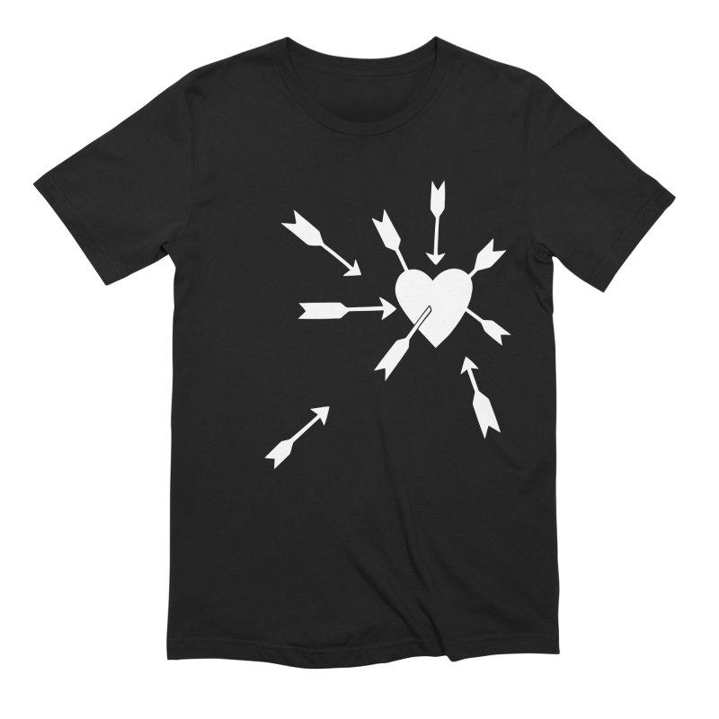 Carefree (black & white) Men's Extra Soft T-Shirt by Kate Gabrielle's Artist Shop