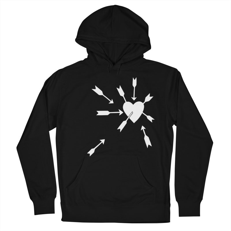 Carefree (black & white) Men's French Terry Pullover Hoody by Kate Gabrielle's Artist Shop