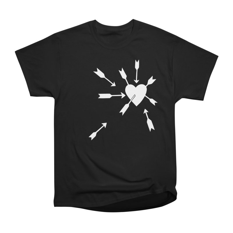 Carefree (black & white) Men's Heavyweight T-Shirt by Kate Gabrielle's Artist Shop