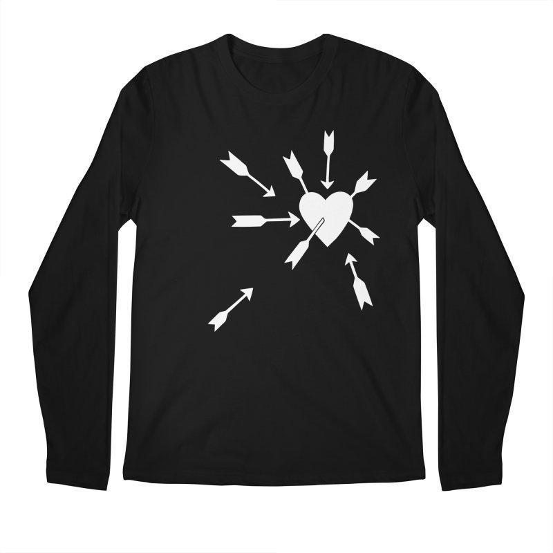 Carefree (black & white) Men's Regular Longsleeve T-Shirt by Kate Gabrielle's Artist Shop