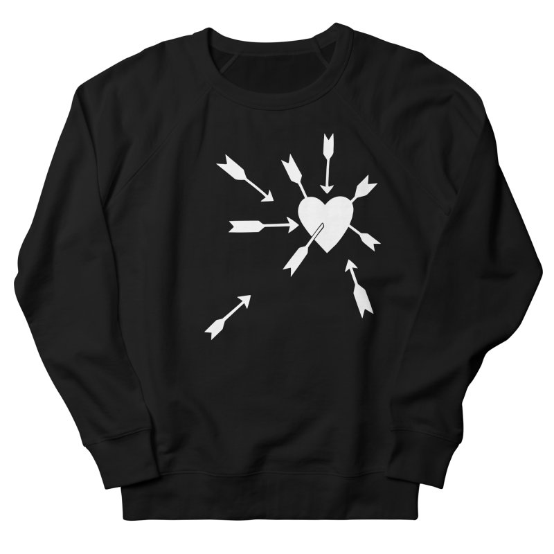 Carefree (black & white) Women's French Terry Sweatshirt by Kate Gabrielle's Artist Shop