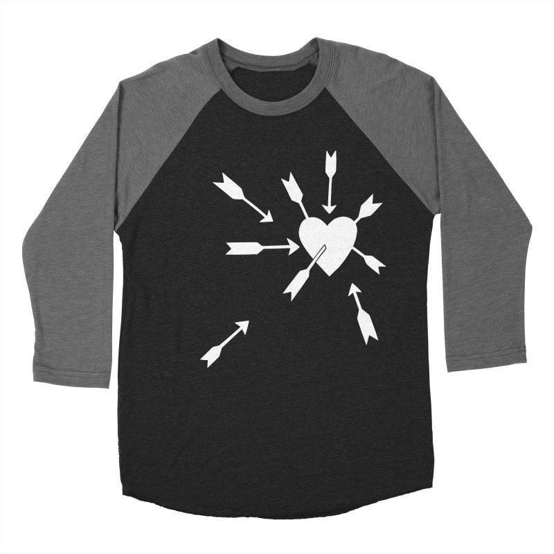 Carefree (black & white) Women's Baseball Triblend Longsleeve T-Shirt by Kate Gabrielle's Artist Shop