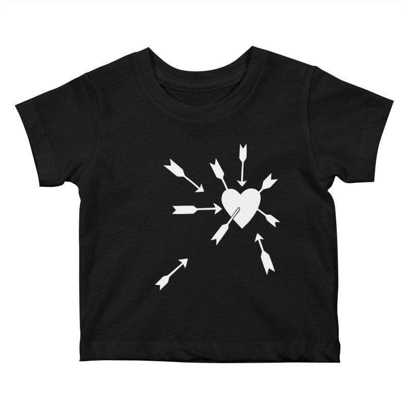 Carefree (black & white) Kids Baby T-Shirt by Kate Gabrielle's Artist Shop