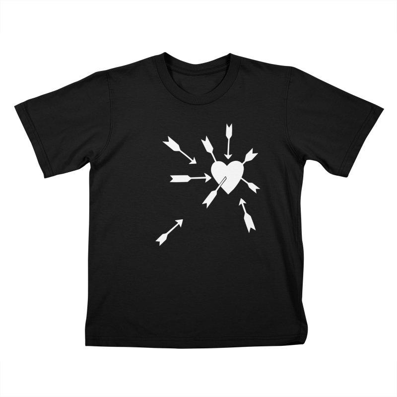 Carefree (black & white) Kids T-Shirt by Kate Gabrielle's Artist Shop