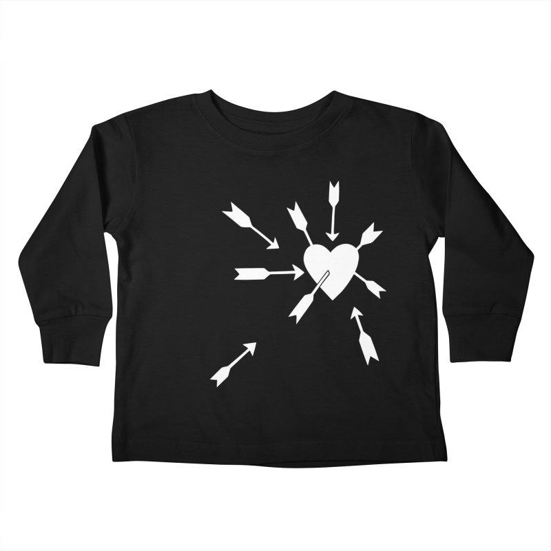 Carefree (black & white) Kids Toddler Longsleeve T-Shirt by Kate Gabrielle's Artist Shop