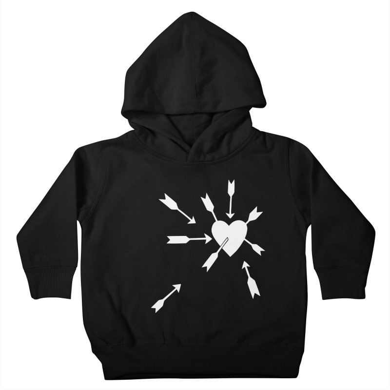 Carefree (black & white) Kids Toddler Pullover Hoody by Kate Gabrielle's Artist Shop