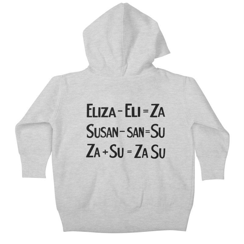 ZaSu Pitts Kids Baby Zip-Up Hoody by Kate Gabrielle's Artist Shop
