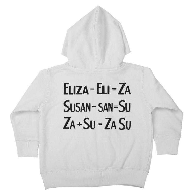 ZaSu Pitts Kids Toddler Zip-Up Hoody by Kate Gabrielle's Artist Shop