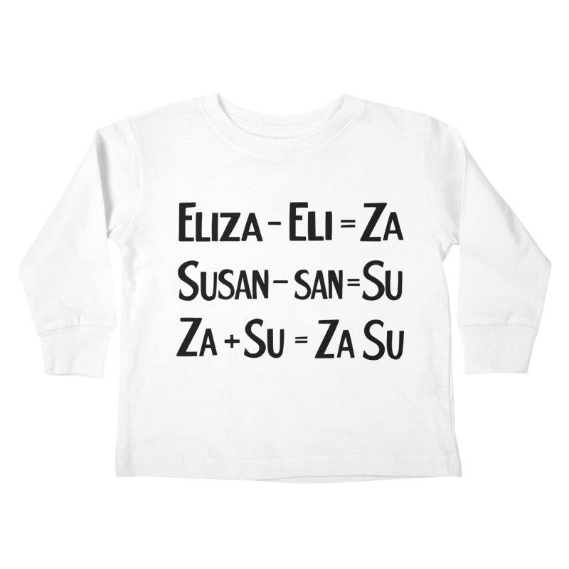 ZaSu Pitts Kids Toddler Longsleeve T-Shirt by Kate Gabrielle's Artist Shop
