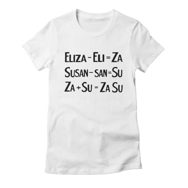ZaSu Pitts Women's Fitted T-Shirt by Kate Gabrielle's Artist Shop