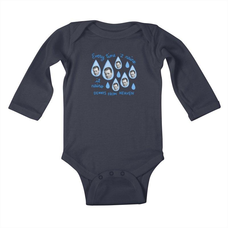 Dennys from heaven Kids Baby Longsleeve Bodysuit by Kate Gabrielle's Artist Shop