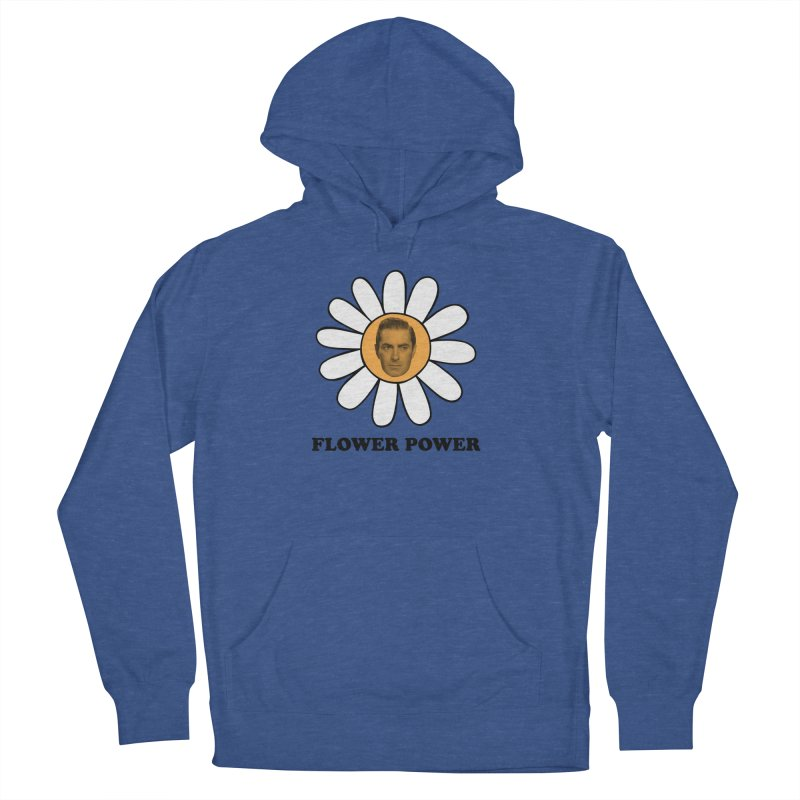 Flower Power Men's French Terry Pullover Hoody by Kate Gabrielle's Artist Shop