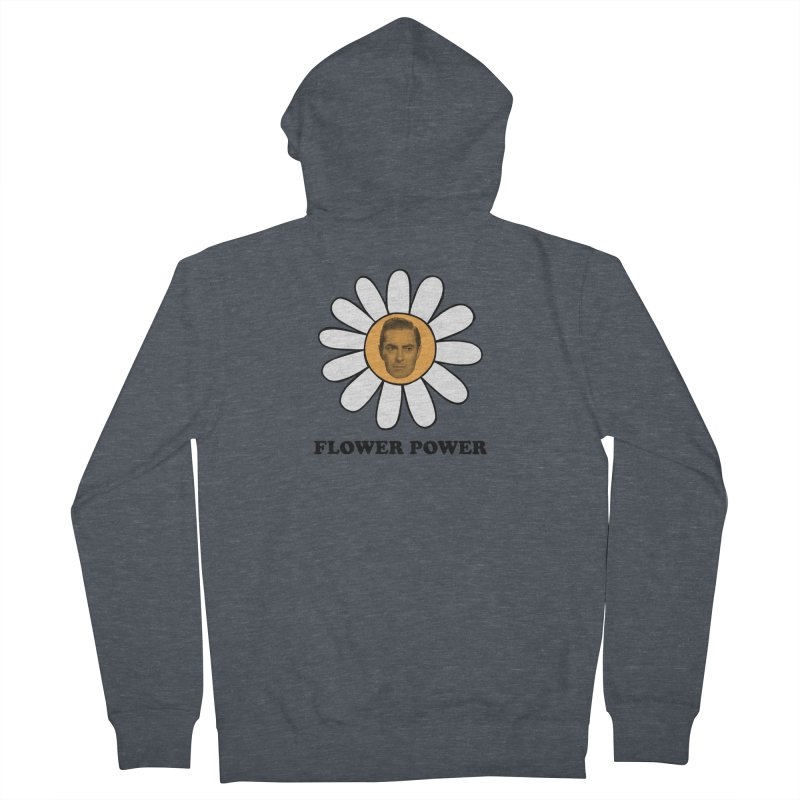 Flower Power Women's French Terry Zip-Up Hoody by Kate Gabrielle's Artist Shop
