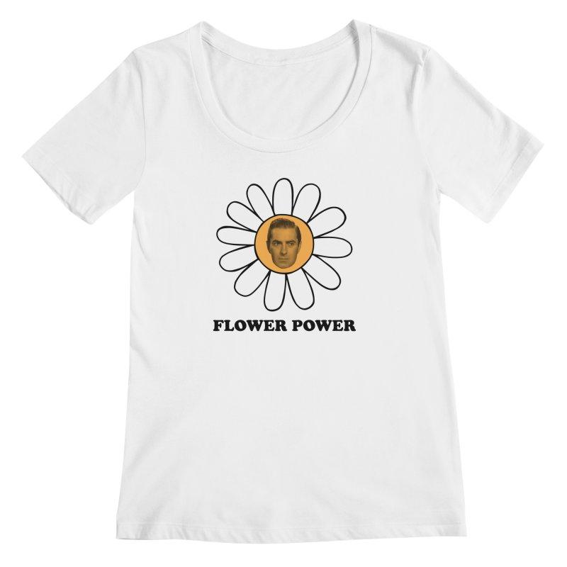 Flower Power Women's Regular Scoop Neck by Kate Gabrielle's Artist Shop