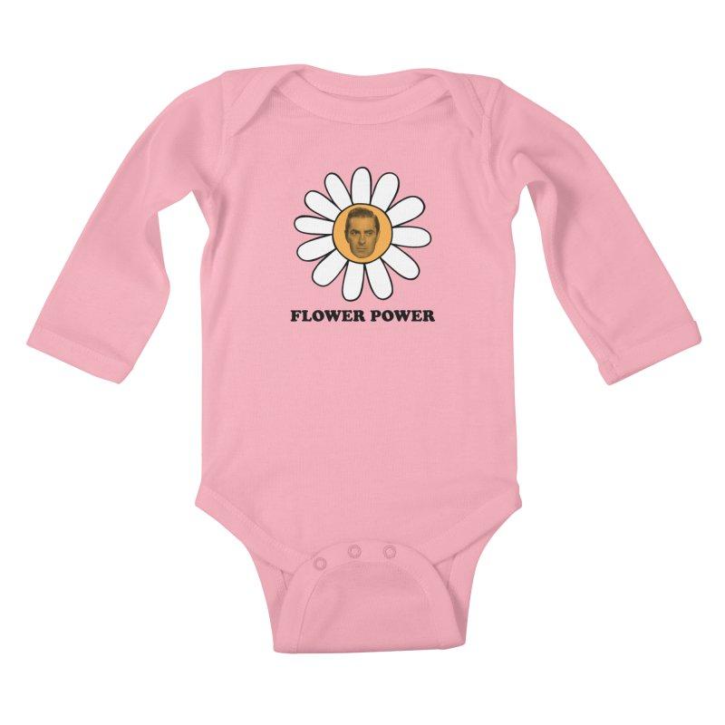 Flower Power Kids Baby Longsleeve Bodysuit by Kate Gabrielle's Artist Shop