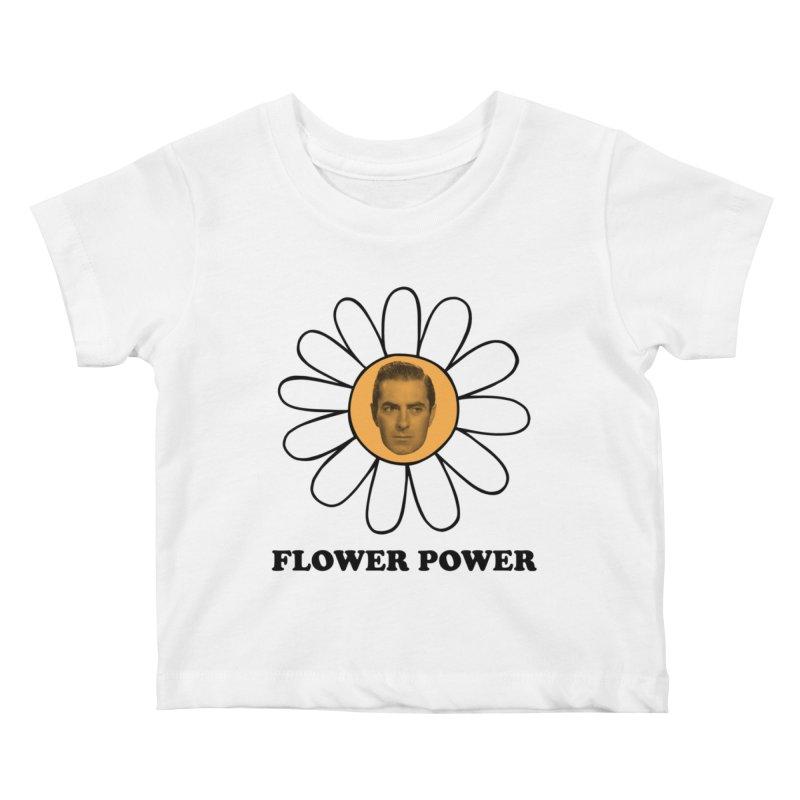 Flower Power Kids Baby T-Shirt by Kate Gabrielle's Artist Shop