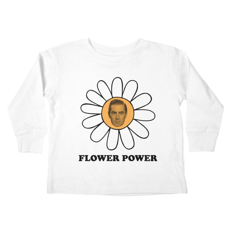 Flower Power Kids Toddler Longsleeve T-Shirt by Kate Gabrielle's Artist Shop