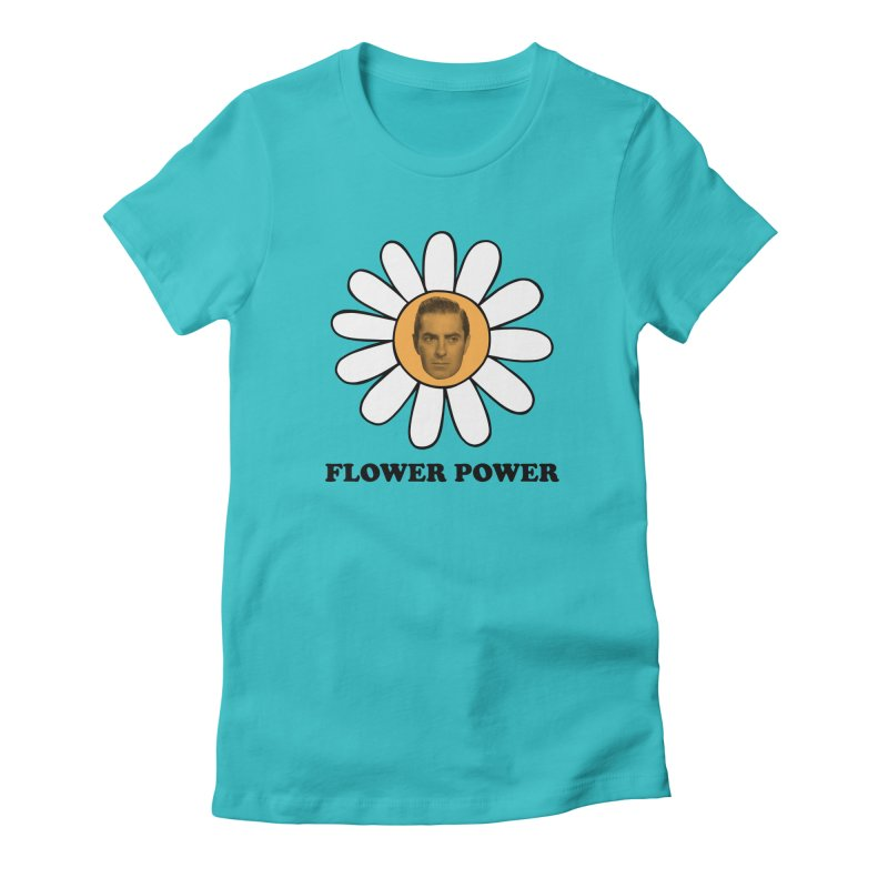 Flower Power Women's Fitted T-Shirt by Kate Gabrielle's Artist Shop