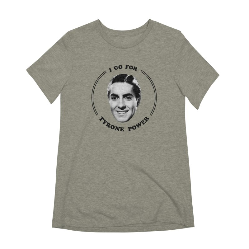 I go for Tyrone Power Women's Extra Soft T-Shirt by Kate Gabrielle's Artist Shop