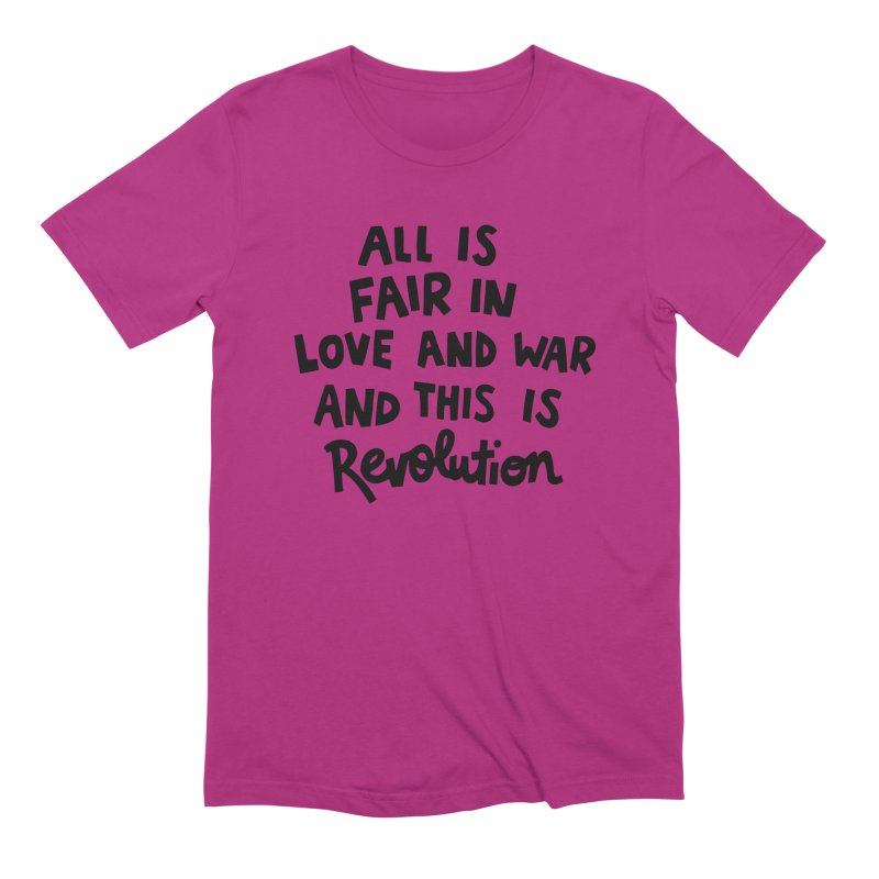 All is fair in love and war Men's Extra Soft T-Shirt by Kate Gabrielle's Artist Shop