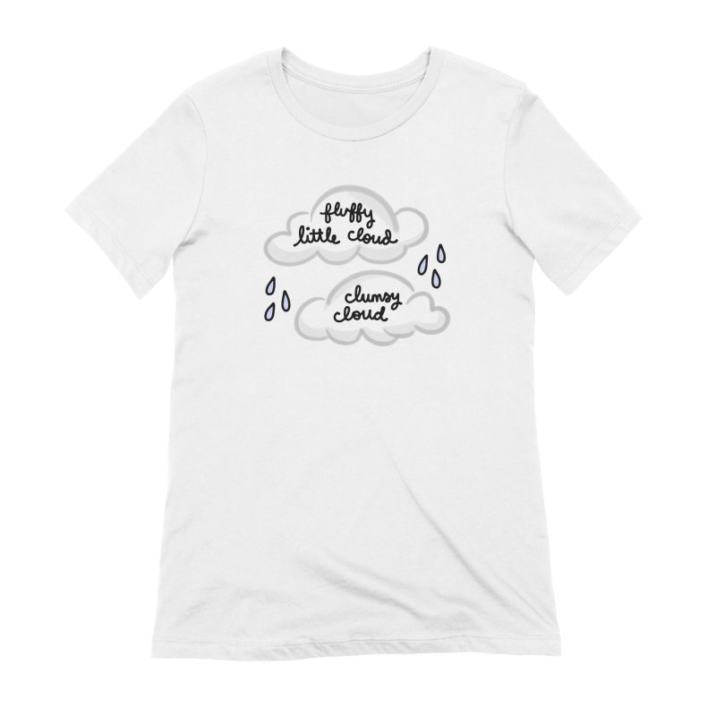 When a clumsy cloud from here meets a fluffy little cloud from there... Women's T-Shirt by Kate Gabrielle's Artist Shop