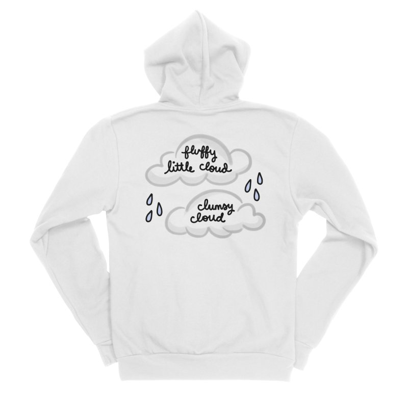 When a clumsy cloud from here meets a fluffy little cloud from there... Men's Sponge Fleece Zip-Up Hoody by Kate Gabrielle's Artist Shop