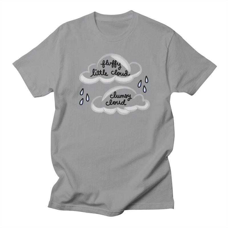When a clumsy cloud from here meets a fluffy little cloud from there... Women's Regular Unisex T-Shirt by Kate Gabrielle's Artist Shop