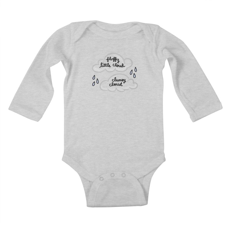 When a clumsy cloud from here meets a fluffy little cloud from there... Kids Baby Longsleeve Bodysuit by Kate Gabrielle's Artist Shop