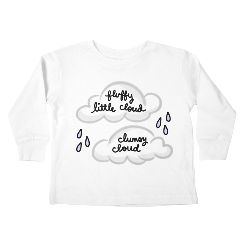When a clumsy cloud from here meets a fluffy little cloud from there... Kids Toddler Longsleeve T-Shirt by Kate Gabrielle's Artist Shop