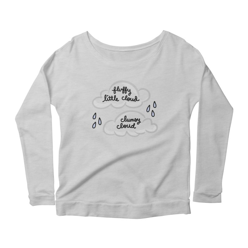 When a clumsy cloud from here meets a fluffy little cloud from there... Women's Scoop Neck Longsleeve T-Shirt by Kate Gabrielle's Artist Shop