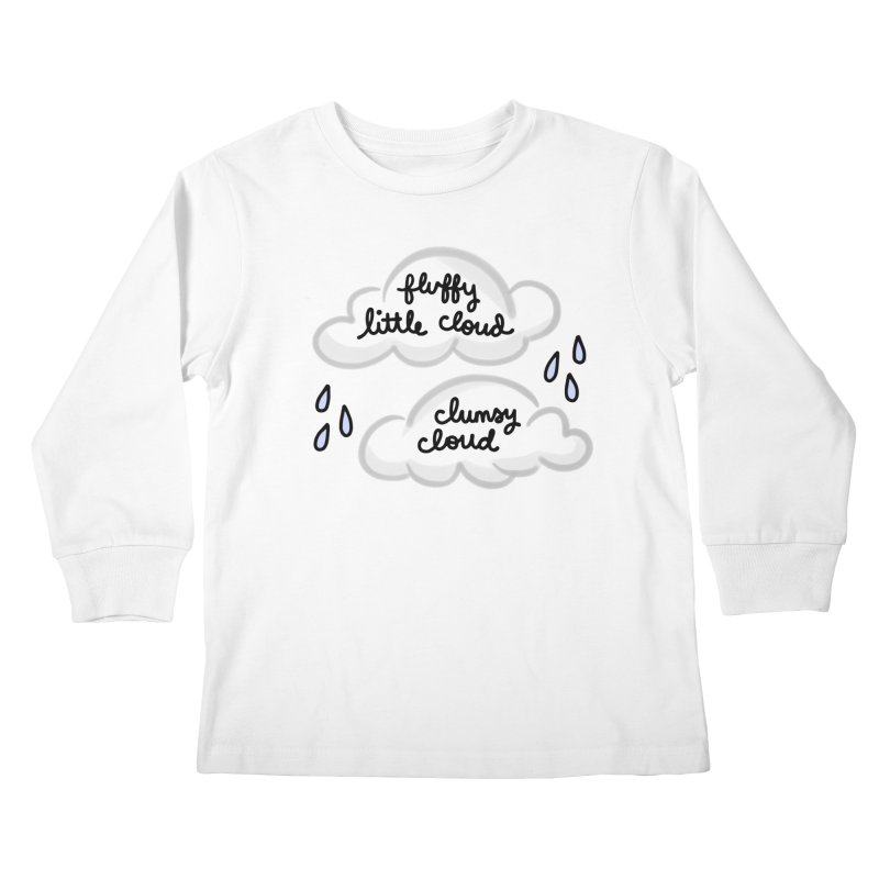 When a clumsy cloud from here meets a fluffy little cloud from there... Kids Longsleeve T-Shirt by Kate Gabrielle's Artist Shop