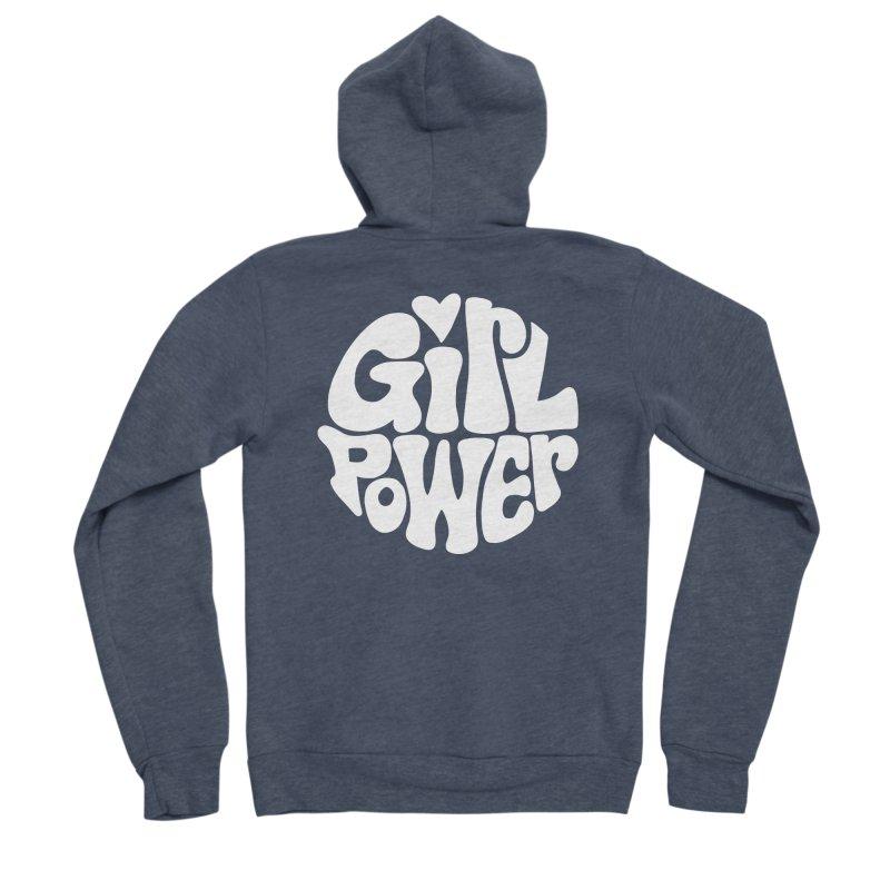 Girl Power Men's Sponge Fleece Zip-Up Hoody by Kate Gabrielle's Artist Shop