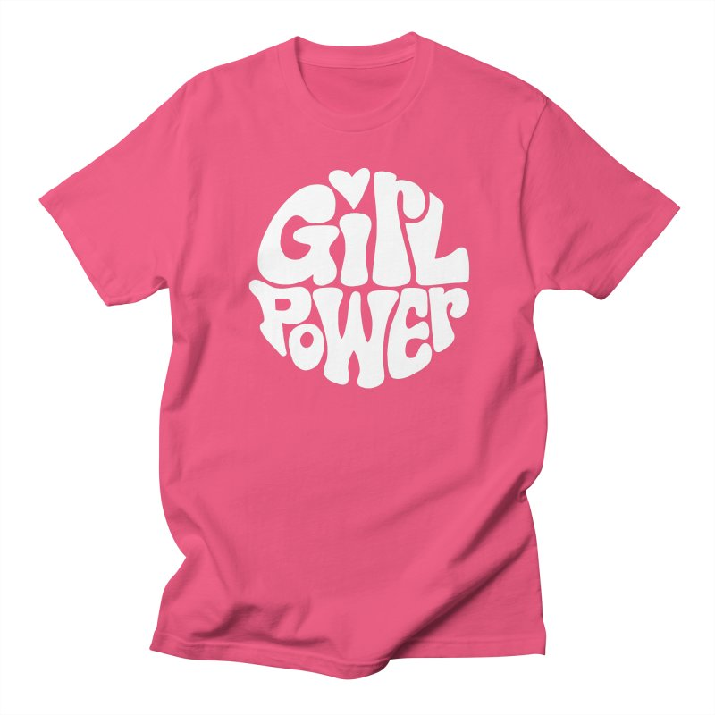 Girl Power in Men's Regular T-Shirt Fuchsia by Kate Gabrielle's Threadless Shop