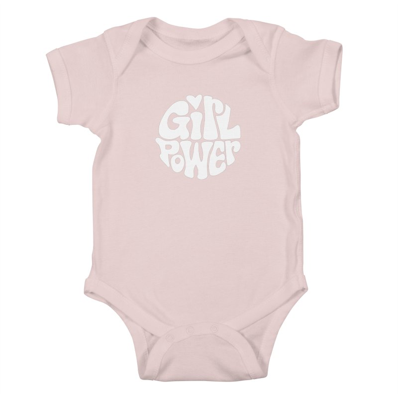 Girl Power Kids Baby Bodysuit by Kate Gabrielle's Artist Shop