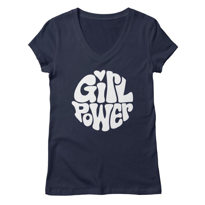 Girl Power Women's Regular V-Neck by Kate Gabrielle's Artist Shop