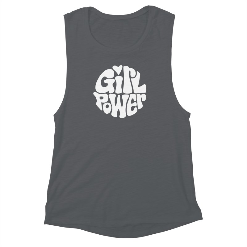 Girl Power Women's Muscle Tank by Kate Gabrielle's Artist Shop