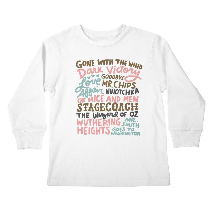 1939 Kids Longsleeve T-Shirt by Kate Gabrielle's Artist Shop