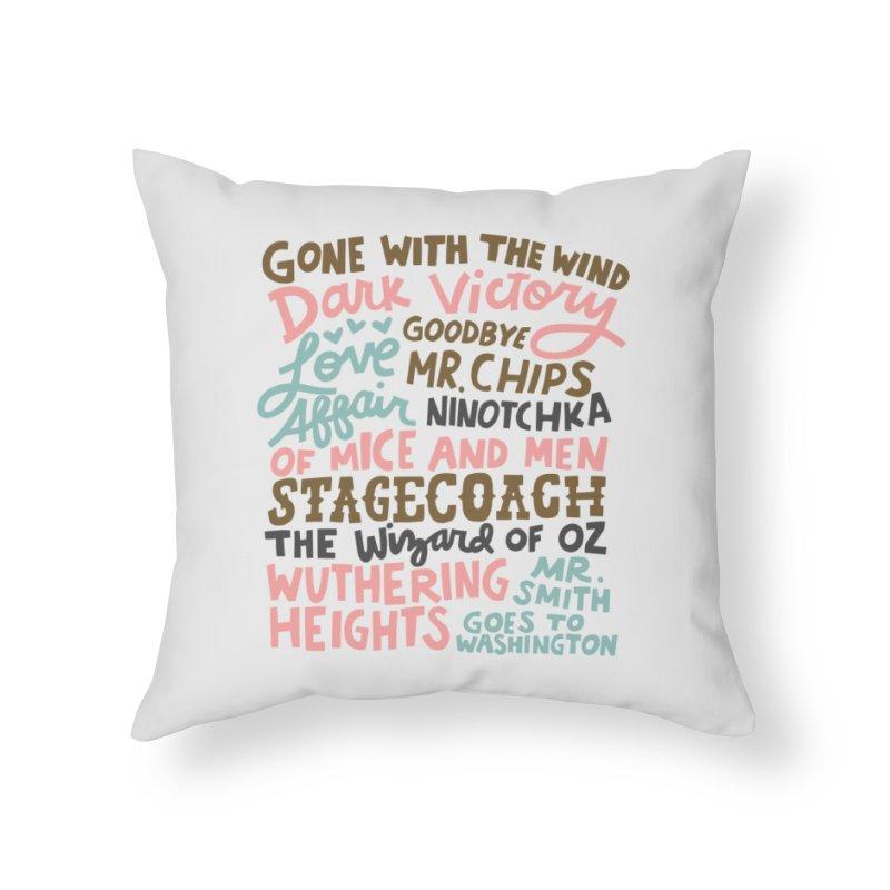 1939 Home Throw Pillow by Kate Gabrielle's Artist Shop