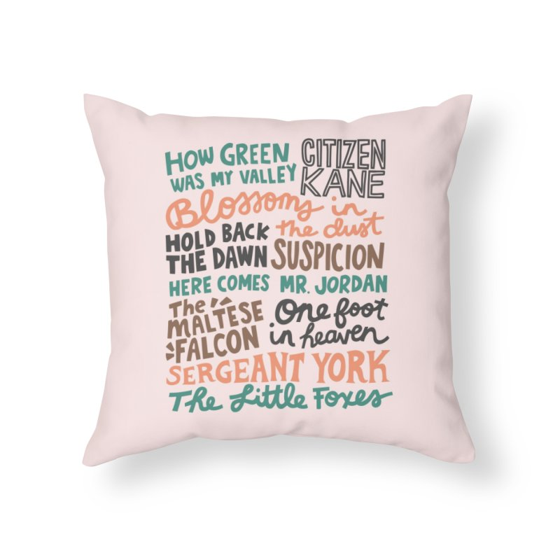 1941 Home Throw Pillow by Kate Gabrielle's Artist Shop