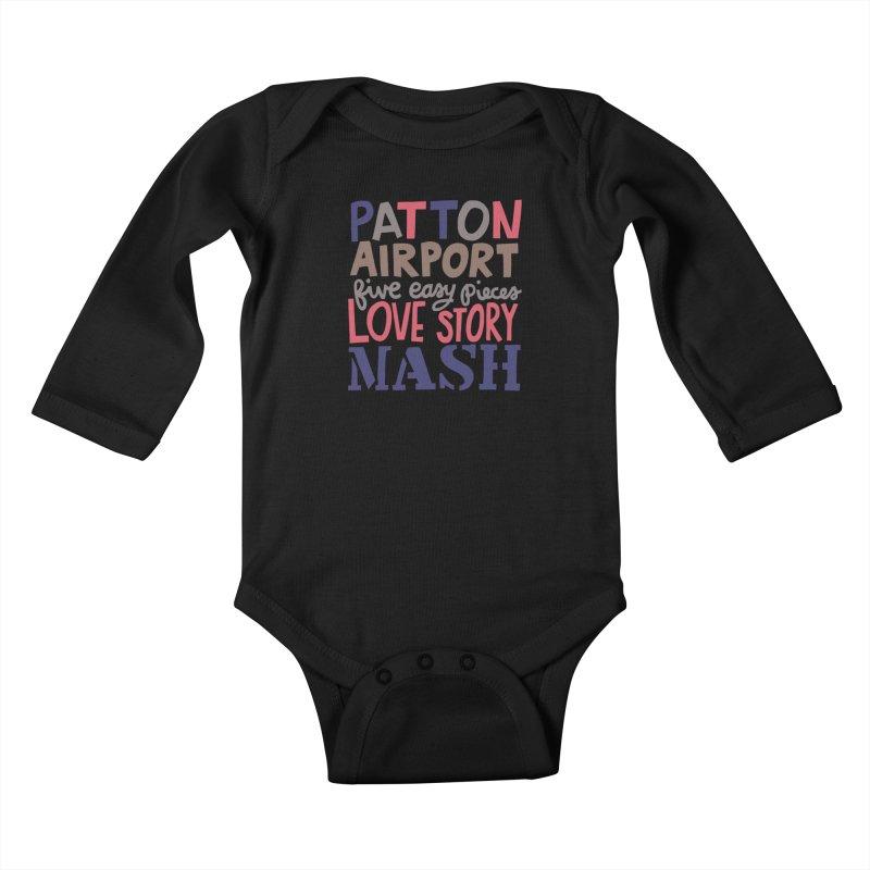 1970 Kids Baby Longsleeve Bodysuit by Kate Gabrielle's Artist Shop
